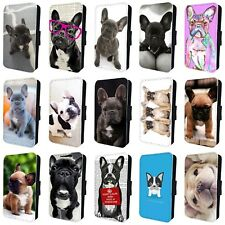 FRENCH BULLDOG PUPPY DOG CUTE FLIP PHONE CASE for SAMSUNG GALAXY S5 S6 S7 S8 S9
