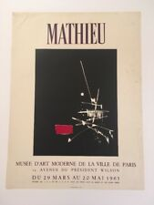 MATHIEU AFFICHE MUSEE D'ART MODERNE 1963