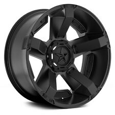 "17"" XD Rockstar 2 Black Wheels Rims 8x6.5 8 Lug Dodge RAM Chevy GMC Trucks"