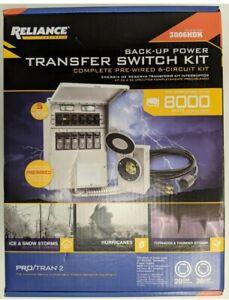 (New) Reliance Controls 8000 Watt Non-Fuse 6-Circuit Transfer Switch Kit 3006HDK