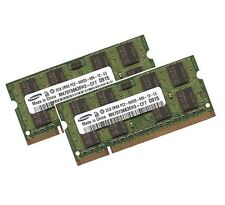2x 2gb 4gb per Dell Inspiron 1520 1521 Notebook MEMORIA RAM ddr2 800mhz SO-DIMM