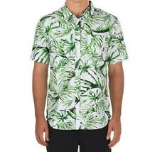 Vans Del Playa Palm Mens Medium Button Up Short Sleeve Shirt NWT Tropical White