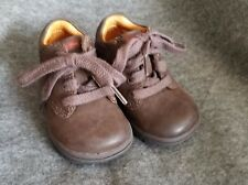 Stride Rite Brown Leather Lace Up Baby Boot Size 3W