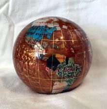 "Unique Art 4.3"" (110 mm) Diameter Gemstone Globe Paperweight Paper weight(Amber)"