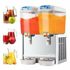 Commercial 18L*2 Tank Frozen Juice Beverage Dispenser Fruit Ice Tea Cold Drink