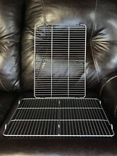 New listing 2 Pack Thick Wire Stainless Steel Cooling Racks For Baking, Roasting & Grilling.