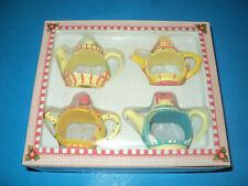 "1997 Mary Engelbreit ""Time for Tea"" Napkin Holders (Nib) Shaped Like Teacups New"