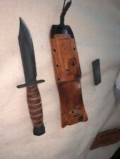 Ontario Jet Pilot, Air Crew, Survival Knife Bolt Knife w Sheath and Stone EUC