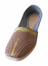 Men Shoes Traditional Handmade Leather Loafers Jutties Brown UK 7.5 EU 41