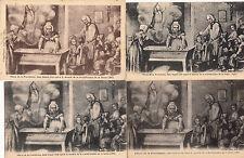 Lot 4 cartes postales anciennes ARS pétrin de la providence