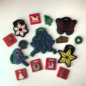 Lot of 15 Misc Chunky Foam Craft Stamps - Christmas, holidays, beach, truck