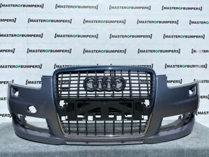 AUDI A6 S LINE C6 4F 2004-2008 FRONT BUMPER IN GREY WITH GRILL GENUINE [A240]