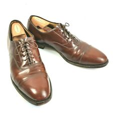 Johnston & Murphy Optima Cap Toe Oxfords Men's 13B  Brown Leather Shoes Lace Up