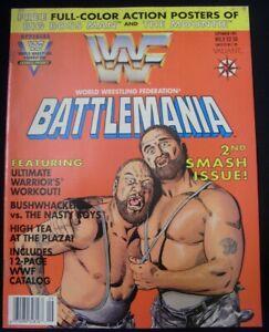 WWF BATTLEMANIA 2 VALIANT MAGAZINE COMIC W/POSTERS CATALOG UNCIRCULATED 1991 FN-