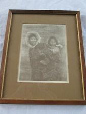 "VINTAGE Framed EDWARD CURTIS ""Woman & Child - NUNIVAK"" PRINT/NO RESERVE"