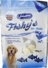 Johnsons JVP Fishys Dog Biscuits/Treats for teeth and joint care 8 x 150g