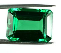 Emerald Cut 100% Natural Colombian Emerald Gemstone 31.55 Ct AGI Certified H2006