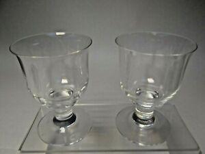 Pair of Vintage Cut Glass Goblets