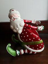 CHRISTMAS SANTA CERAMIC BOTTLE HOLDER