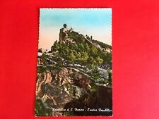 SAN MARINO 1959 POSTCARD WITH STAMPS 02 CASTLE