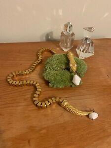 Vintage Valentino Gold Tone Snake/Serpent Necklace