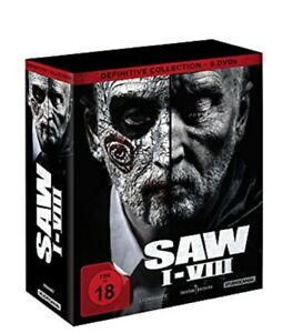 SAW I-VIII Definitive Collection 8 DVDs NEU OVP Saw Box Teil 1-8 Komplett