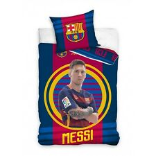 POŚCIEL BARCELONA MESSI OFFICIAL BEDDING COVER SET BARCELONA 160X200CM COTTON