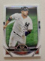 Gleyber Torres 2021 Topps Tribute Baseball Card #27 New York Yankees