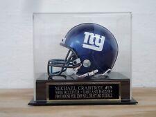 Football Mini Helmet Display Case With A Michael Crabtree Raiders Nameplate