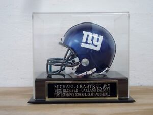 Michael Crabtree Football Mini Helmet Display Case W/ A Raiders Nameplate