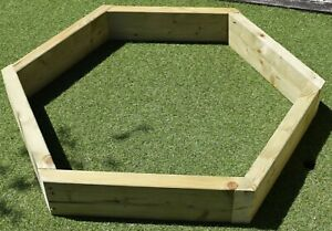 Hexagonal Raised Bed - Ideal for Vegetables or Flowers - 3 Sizes to Choose From