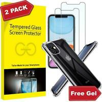 Case For iPhone 11 Pro MAX XR XS 7 8 Plus Clear Cover + Glass Screen Protector