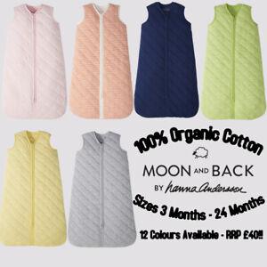 New 100% Organic Cotton Baby Boys Girls Sleeping Grow Bag Wearable Blanket 1 Tog