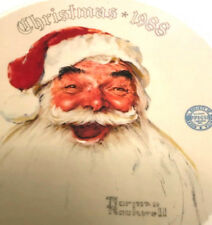 Norman Rockwell 1988 Limited Edition Santa plate 8 1/4''
