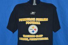 Pittsburgh Steelers Football Training Camp Latrobe Pa Black t-shirt Football M
