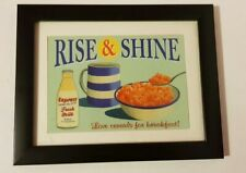 """Beautiful Framed  Vintage/ Retro """"Rise And Shine""""  Picture Painting/Print"""