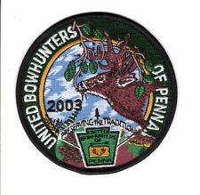 2003 UNITED BOW HUNTERS OF PENNSYLVANIA GAME COMMISSION-MICHIGAN DEER BEAR PATCH