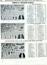 1950 Print Ad of Smith & Wesson S&W Military & Police Revolver Parts List