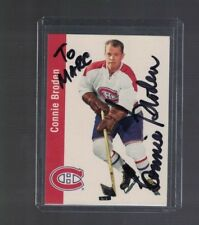 Connie Broden Montreal Canadiens 1990's Parkhurst Signed Card W/Our COA To Marc