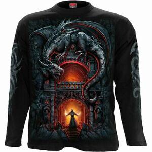 Spiral Direct DRAGON'S LAIR Mens Long Sleeve, Skulls/Reaper/T-shirt/Top/Clothing