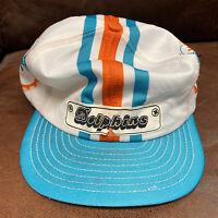 Vintage 80s Miami Dolphins Helmet Hat NFL Football SnapBack Hat See Description