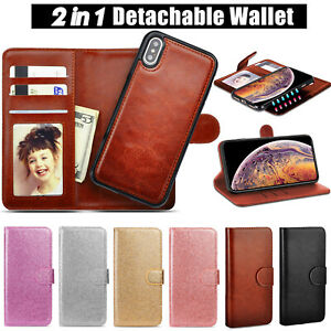 Magnetic Adsorption Leather Flip Wallet Case Cover for iPhone 12 11 XS XR 8 7 6