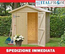 BOX CASETTE LEGNO CASETTA DA GIARDINO IN LEGNO D'ABETE 14mm -mq2,96- ITALFROM304