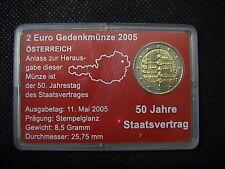 2 EURO COMMEMORATIVO AUSTRIA 2005 ANNIVERSARIO STATO IN COINCARD