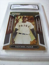 SATCHEL PAGE BROWNS 2008 SPORTS LEGENDS # 30 GRADED 10