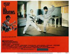 The Big Brawl Jackie Chan 11x14 lobby card fight scene in Kung Fu studio