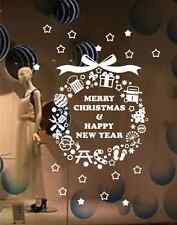 Merry Christmas Happy New Year wall stickers Decal Shop stickers Removable UK