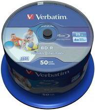 50 Verbatim Rohlinge Blu-ray BD-R full printable 25GB 6x Spindel