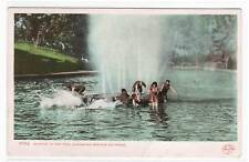 Bathing Pool People Glenwood Springs CO 1910c postcard
