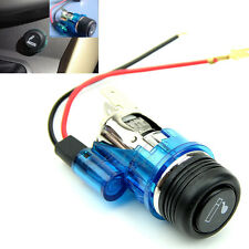 Blue 12V Waterproof Car Motorcycle Cigarette Lighter Power Socket Plug Outlet